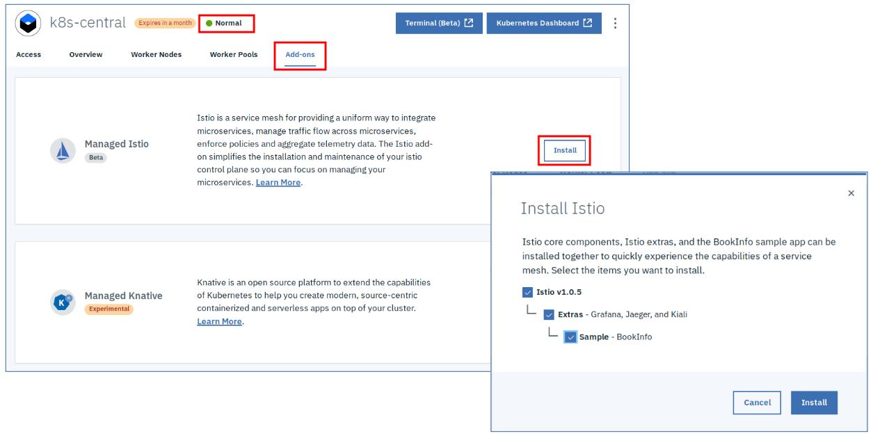 Install Istio and Kiali on IBM Cloud or Minikube – Harald